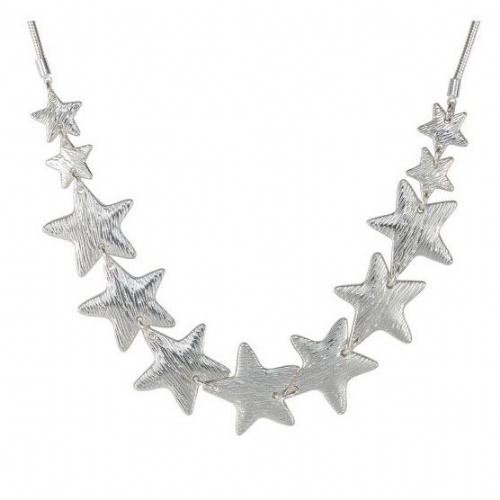 Multi Star Necklace in Silver
